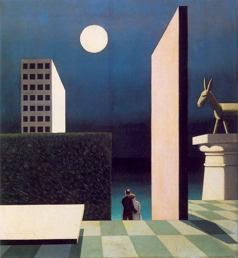 Green Donkey 1924 | Sandor Bortnyik | oil painting