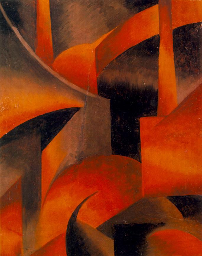 Red Factory 1919 | Sandor Bortnyik | oil painting