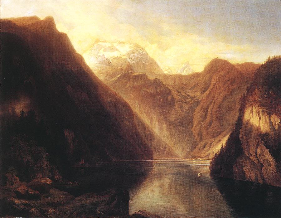 Pond in the Alps 1853   Sandor Brodszky   oil painting