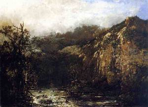 A Mountain Stream from the Foot of Mt. Carter New Hampshire 1881-1887 | Sonntag William Louis | oil painting
