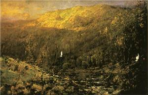 A Wooded Mountain Landscape 1894 | Sonntag William Louis | oil painting