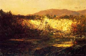Shadows Rising and Sun Setting New Hampshire | Sonntag William Louis | oil painting