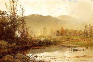 Mountain Lake in Autumn 1883 | Sonntag William Louis | oil painting