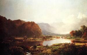 Fishermen in the Adironcacks Hudson River 1860-1869 | Sonntag William Louis | oil painting