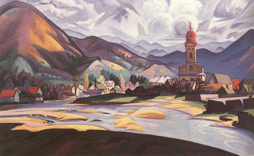 View of Nagybanya c 1911 | Tibor Boromisza | oil painting