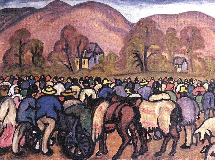 Market in Nagybanya 1911 | Tibor Boromisza | oil painting