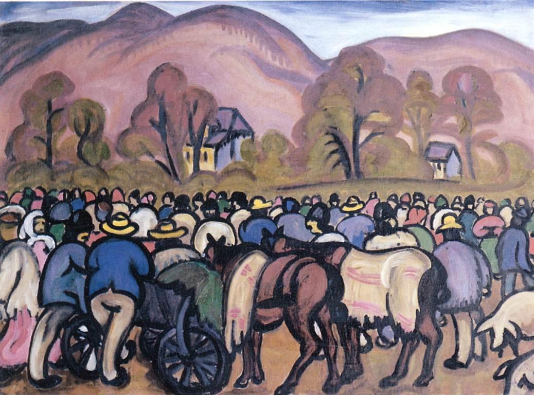 Fair at Nagybanya 1911 | Tibor Boromisza | oil painting