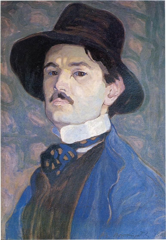 Self portrait 1908 | Tibor Boromisza | oil painting