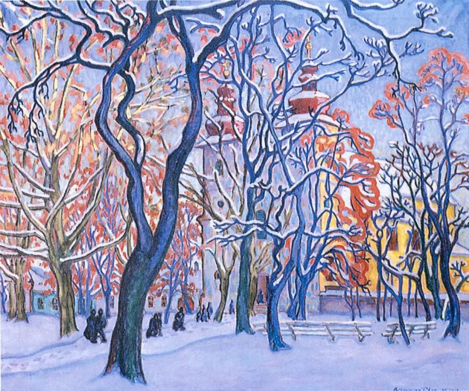 Snowy Square 1910 | Tibor Boromisza | oil painting