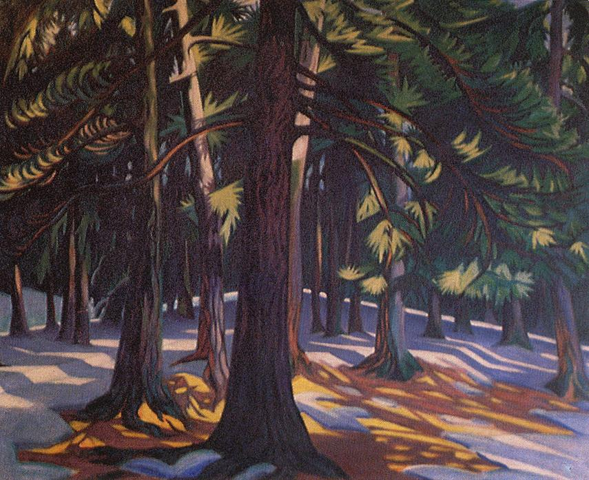 In the Pine Forest 1913 | Tibor Boromisza | oil painting