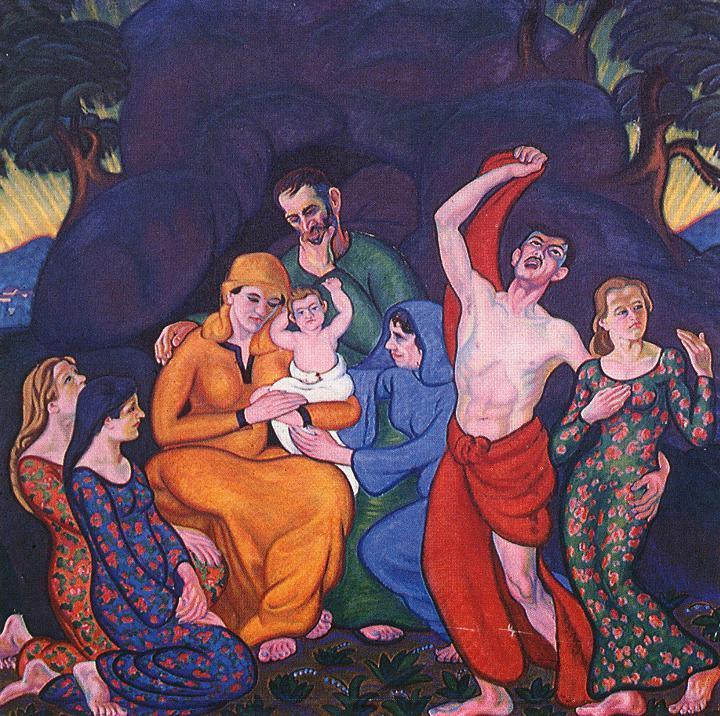 The Shepherds Find Christ 1912 | Tibor Boromisza | oil painting