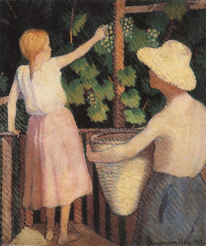 Picking Grapes 1906 | Tibor Boromisza | oil painting