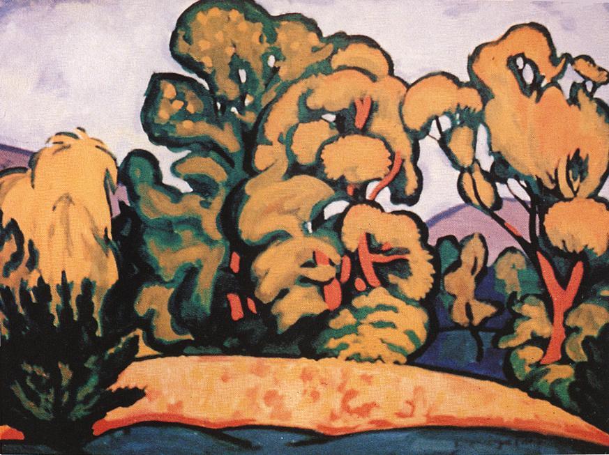 Trees 1910 | Tibor Boromisza | oil painting