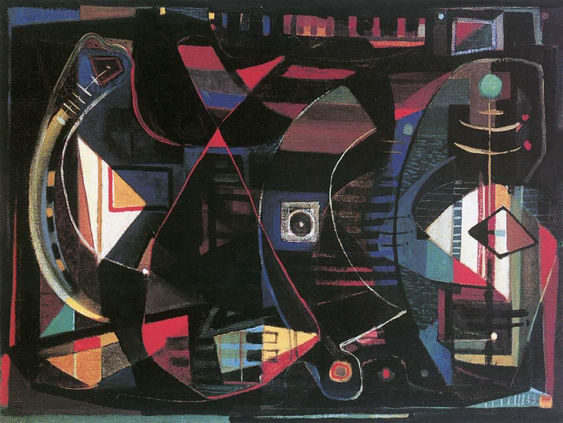 Lights and Shadows 1947 | Tihamer Gyarmathy | oil painting