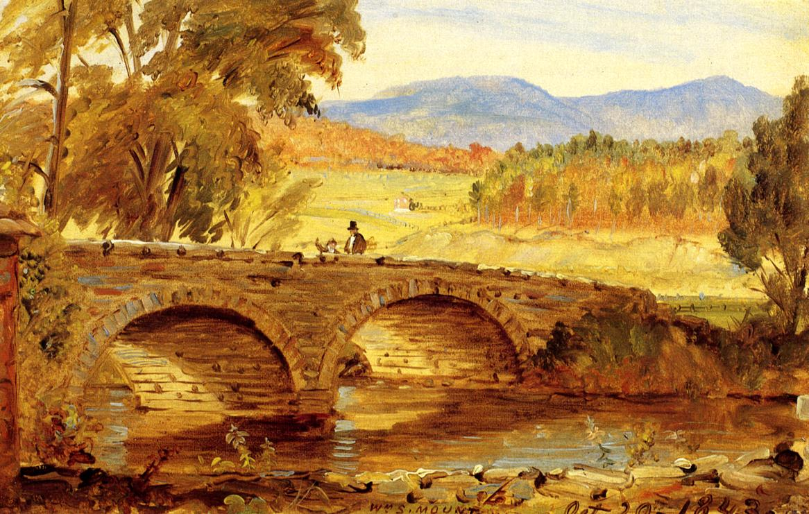 The Stone Bridge 1843 | William Sidney Mount | oil painting