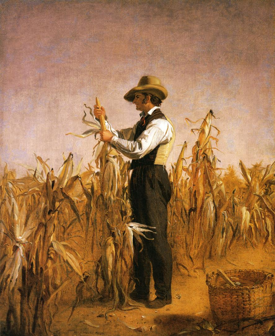 Long Island Farmer Husking Corn 1833 1834 | William Sidney Mount | oil painting