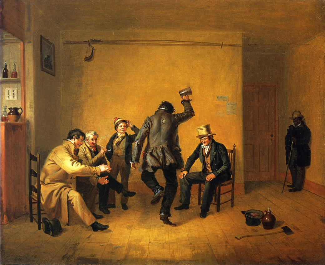 The Breakdown (aka Bar room Scene) 1835 | William Sidney Mount | oil painting
