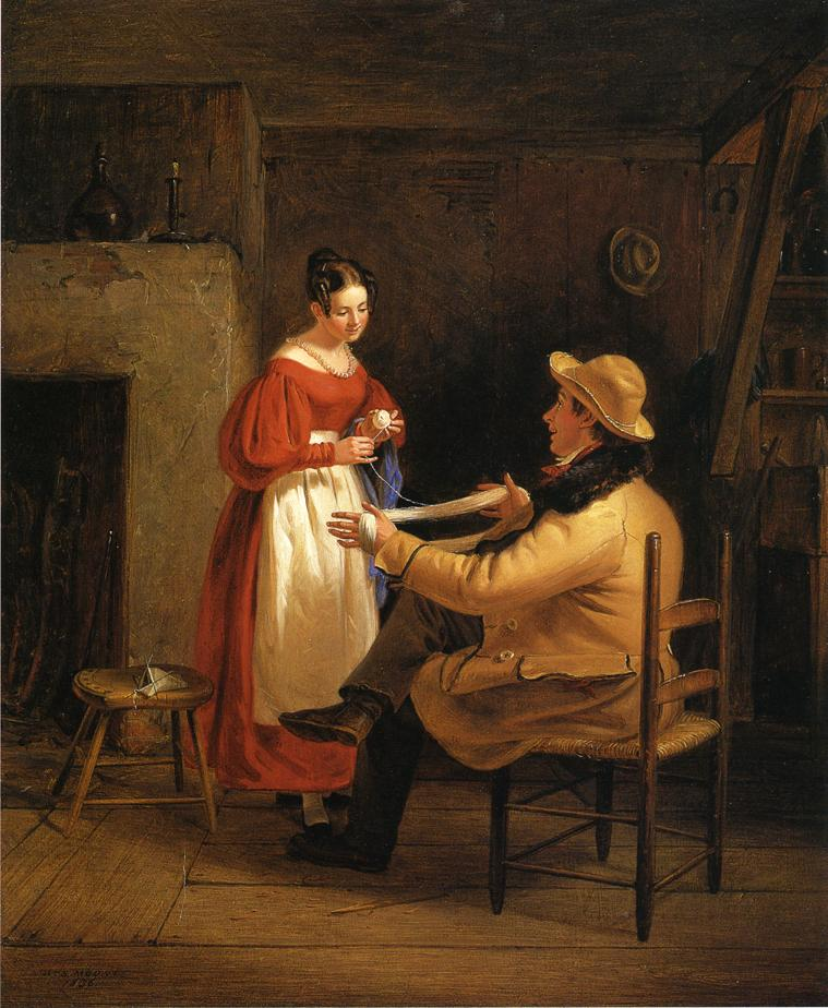 Courtship (aka Winding Up) 1836 | William Sidney Mount | oil painting