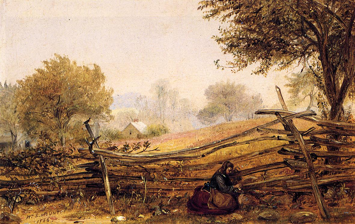 Cracking Nuts 1856 | William Sidney Mount | oil painting