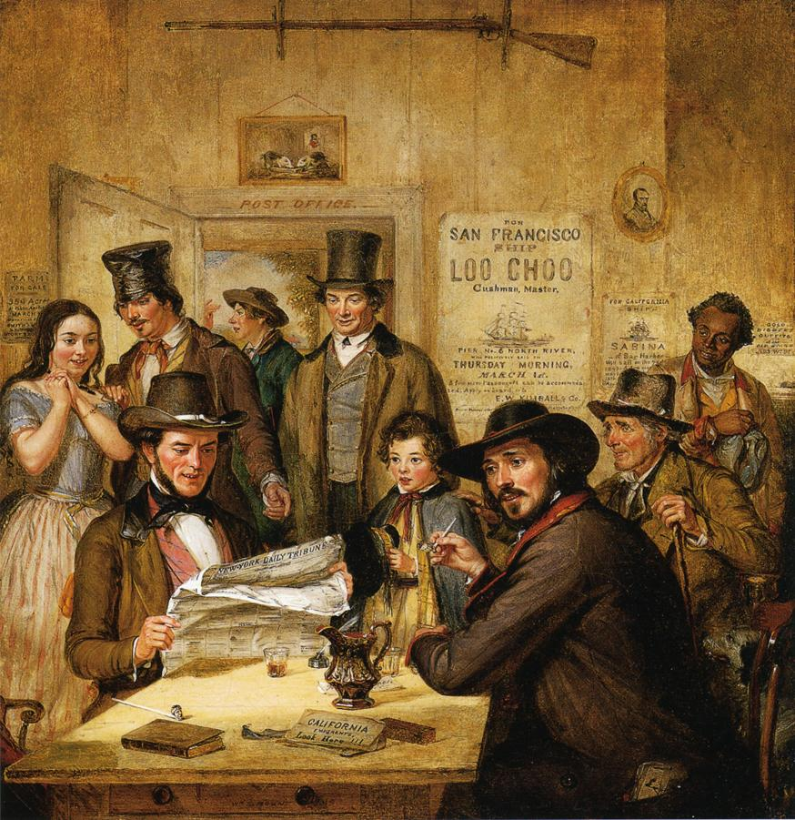 California News 1850 | William Sidney Mount | oil painting