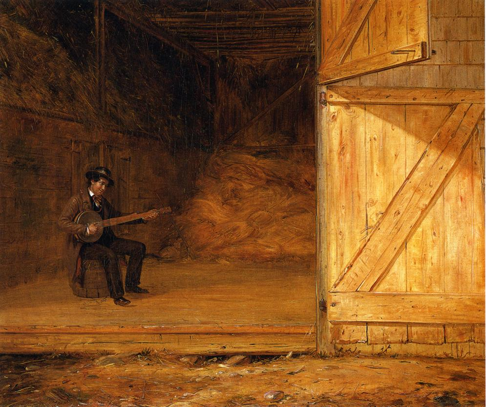The Banjo Player in the Barn 1855 | William Sidney Mount | oil painting