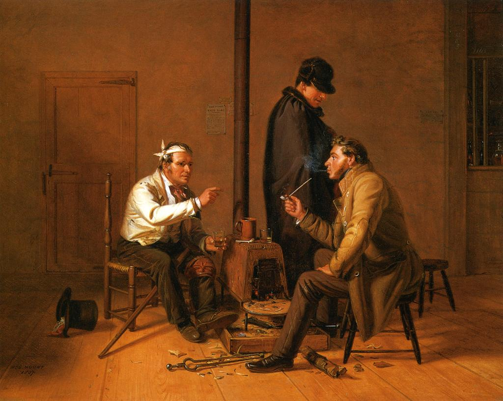 The Long Story (aka The Tough Story) 1837 | William Sidney Mount | oil painting