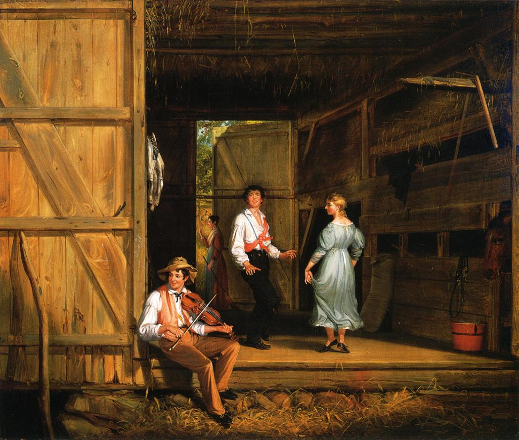 Dancing on the Barn Floor 1831 | William Sidney Mount | oil painting