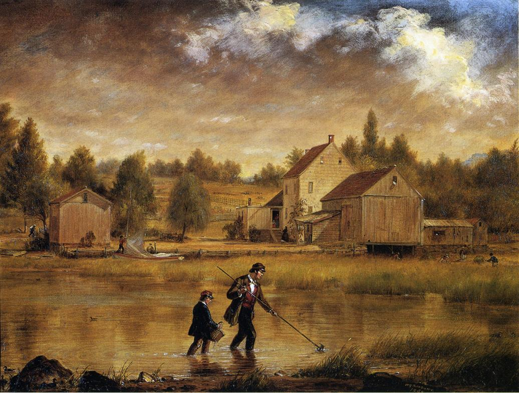 Catching Crabs 1865 | William Sidney Mount | oil painting