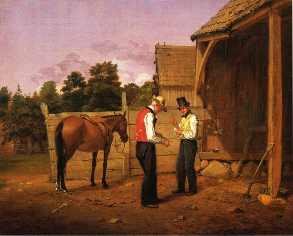 Barganing for a Horse 1835 | William Sidney Mount | oil painting