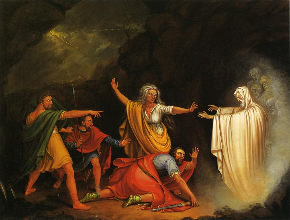 Saul and the Witch of Endor 1828 | William Sidney Mount | oil painting