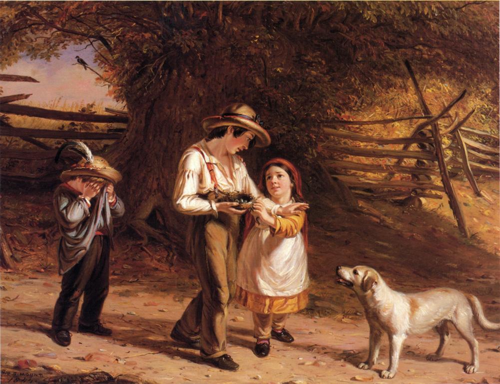 Bird Egging 1844 | William Sidney Mount | oil painting