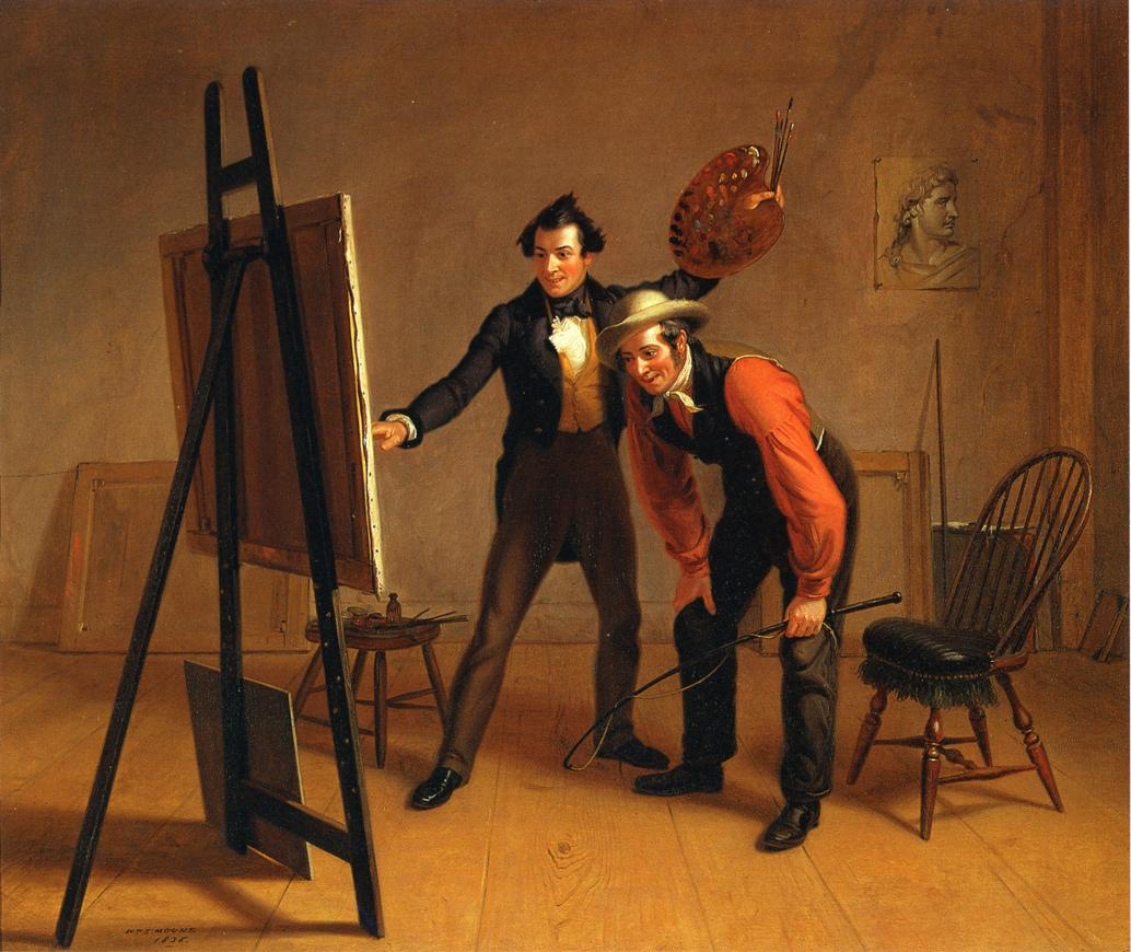 The Painter's Triuimph (aka Artist Showing His Own Work) 1838 | William Sidney Mount | oil painting