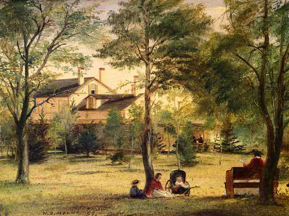 The Residence of the Honorable William H. Ludlow 1859 | William Sidney Mount | oil painting