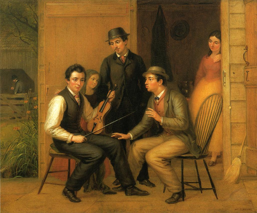 Catching the Tune 1866 1867 | William Sidney Mount | oil painting