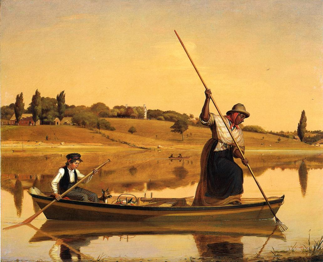 Eel Spearing at Setauket (aka Recolections of Early Days Fishing Along Shore) 1845 | William Sidney Mount | oil painting