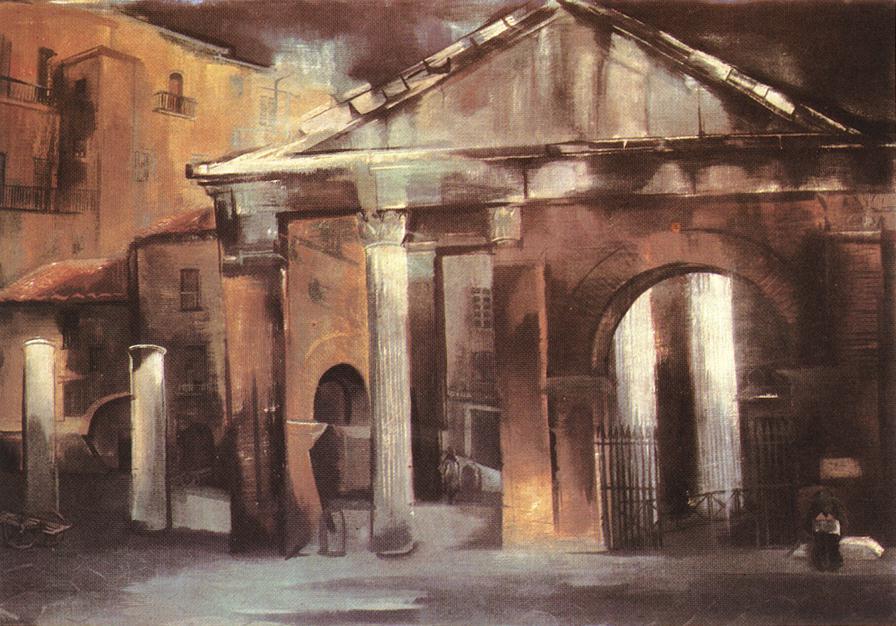 Portico Octaviano 1935 | Zoltan Borbereki Kovacs | oil painting