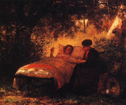 The Field Hospital Or The Letter Home 1867 | Eastman Johnson | oil painting