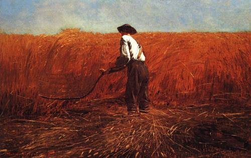 Veteran In A New Field 1865 | Winslow Homer | oil painting