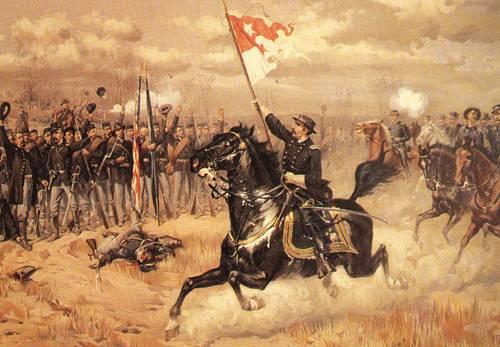 Sheridans Ride October 19 1864 | Louis Prang & Co | oil painting