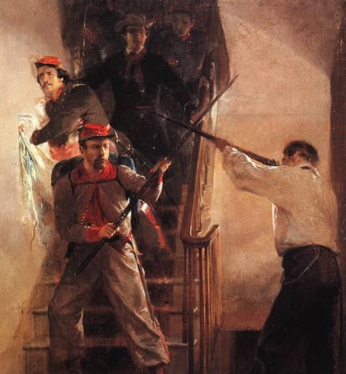 Death Of Ellsworth | Alonzo Chappel | oil painting
