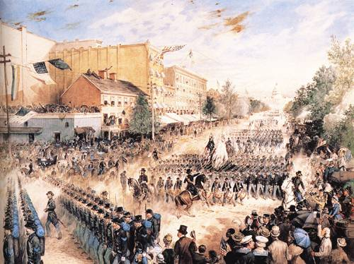 The Grand Parade Of Shermans Army In Washington 1881 | James E Taylor | oil painting