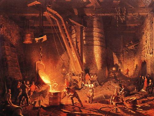 The Weat Point Foundry | John Ferguson Weir | oil painting