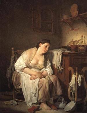 Indolence | Jean Baptiste Greuze 1756 1757 | oil painting