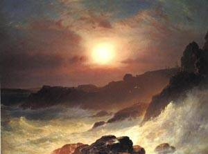 Coast Scene Mount Desert | Frederic Edwin Church 1863 | oil painting