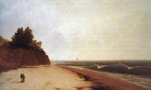 Coast Scene with Figures | John F Kensett 1869 | oil painting