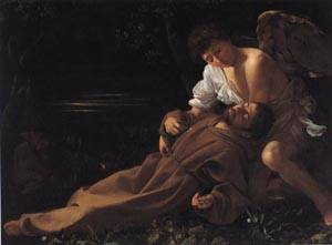 Saint Francis | Michelangelo Merisi da Caravaggio 1595 | oil painting