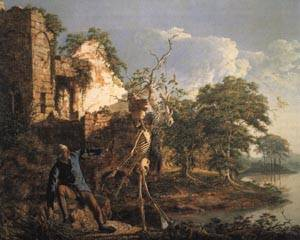 The Old Man and Death | Joseph Wright of Derby 1773 | oil painting