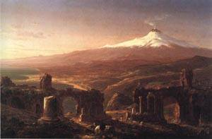 Mount Etna from Taormina | Thomas Cole 1843 | oil painting