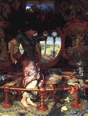 The Lady of Shalott | William Holman Hunt 1886 195 | oil painting