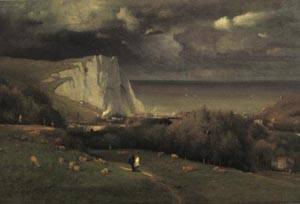 Etretat | George Inness 1875 | oil painting